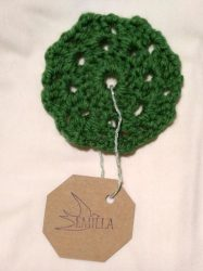Nori Flake - Hand crocheted cup coaster