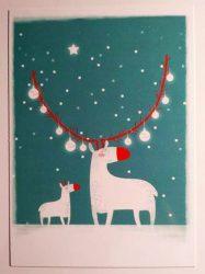 3db Rudolf Tree - Adaland üdvözlőkártya