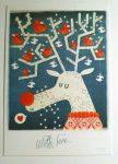 Rudolf the Red Bird Reindeer - Adaland üdvözlőkártya