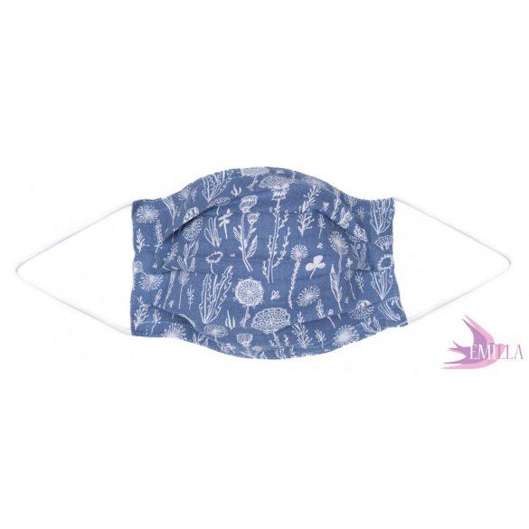 Gumis mosható, sterilizálható arcmaszk - Nature / pamutgéz
