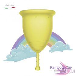 Rainbow Intimkehely nagy méret - Sárga (puha)