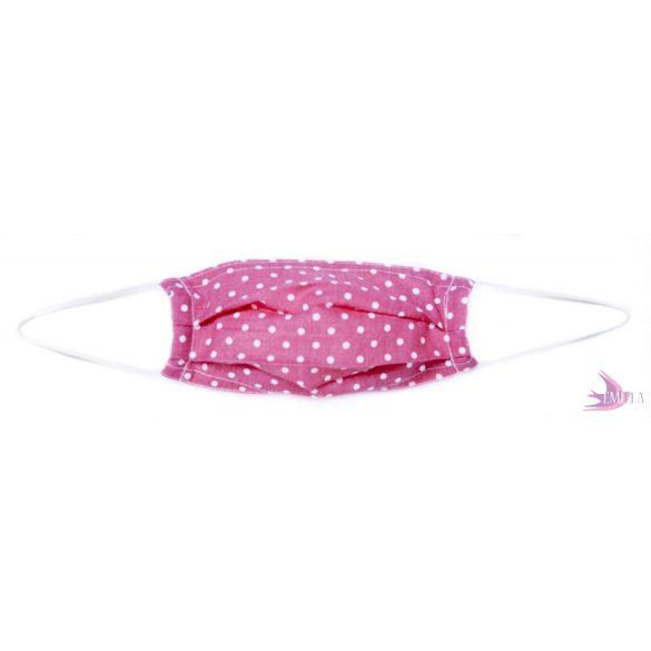 Gyermekmaszk - Pink Pöttyös / pamut