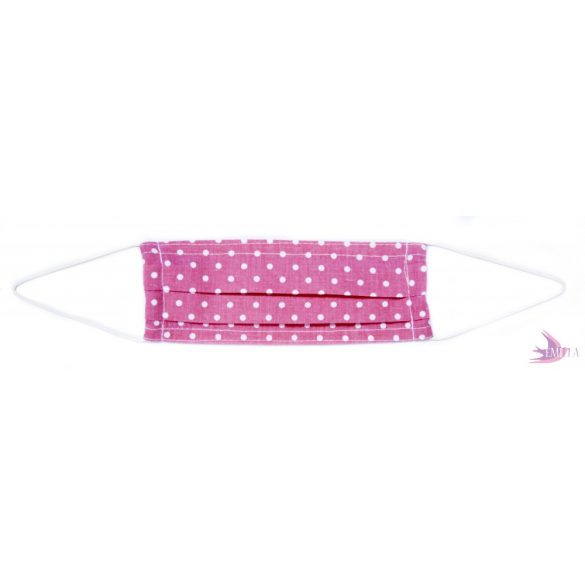 Kids face mask - Pink Dotty / cotton