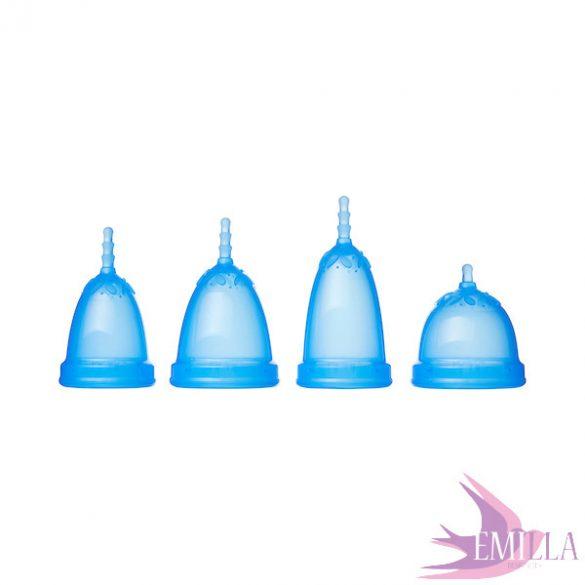 Juju intimkehely model 3 BLUE - hosszított méret (magas méhszájhoz)
