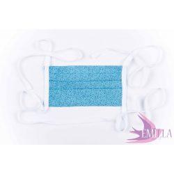 Megkötős mosható, kifőzhető arcmaszk - Kék bogyók / pamut