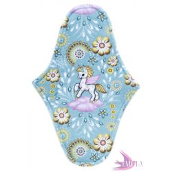 Afrodité small pad (S) for moderate flow - Pegasus in Blue