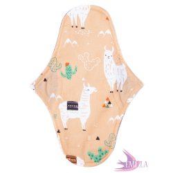 Pénelopé WIDE medium pad (M) moderate flow - Peach Llama