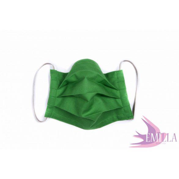 Gumis mosható, sterilizálható arcmaszk - Sötétzöld / pamutvászon