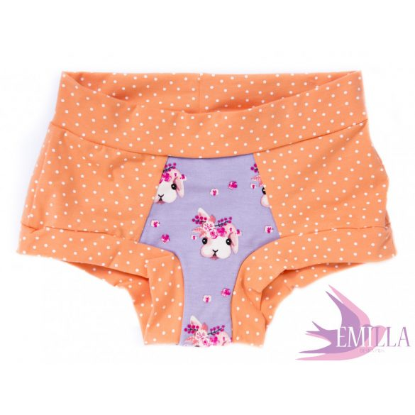 Peach-Purple Bunny Head limited Scrundies xs