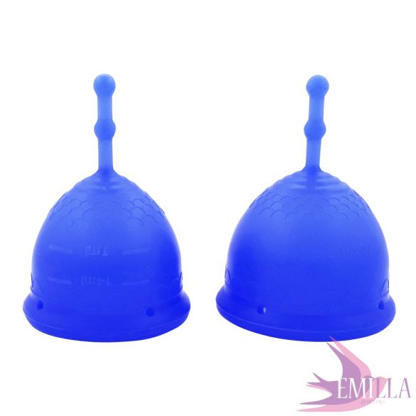 Mermaid Guppi Cup L Sapphire Blue Áttetsző, puha