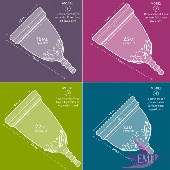 Juju Cup model 3 - elongated size (for high cervix) - Transparent