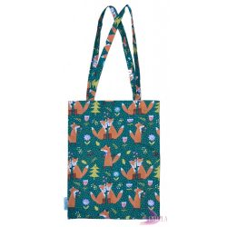 Foxy - Cotton tote bag from rescued fabric