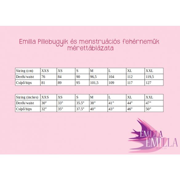 Pink Cherry menstruációs bugyi XS