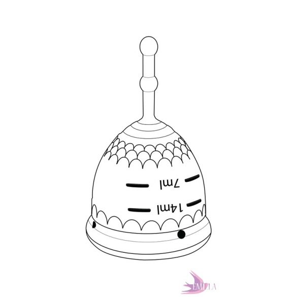Mermaid Guppi Cup S True Black, sima középkemény