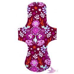 Gaia postpartum (XXL) clothpad - Bordeaux Floral
