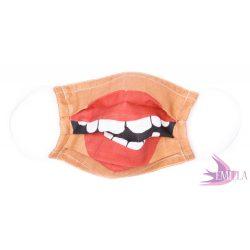 Gumis mosható, sterilizálható arcmaszk - The Kiss / biopamut géz
