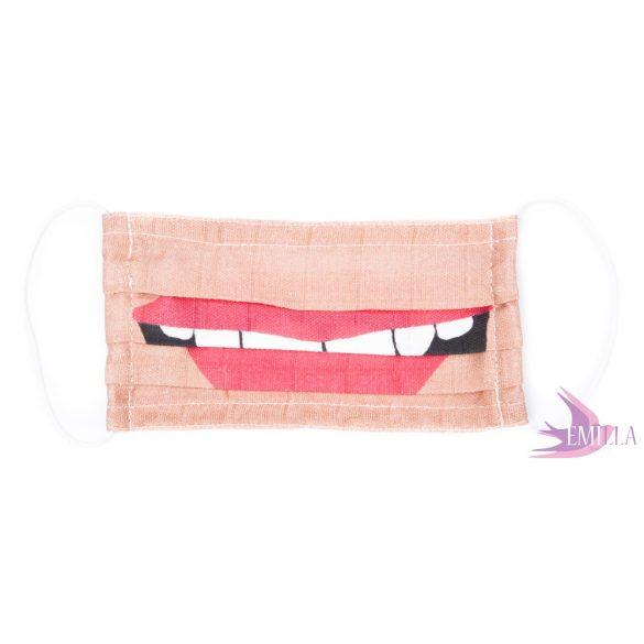 Washable, sterilizable face mask - The Kiss / organic cotton guaze