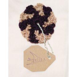 Swirl Flake - Hand crocheted cup coaster