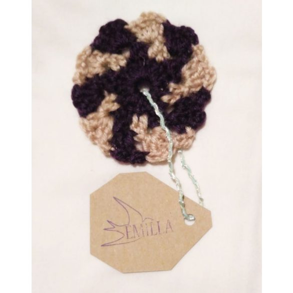Swirl Flake - Hand crocheted cup coaster