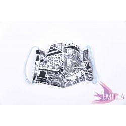 Washable, sterilizable face mask - City / cotton
