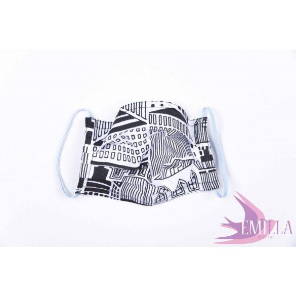 Gumis mosható, sterilizálható arcmaszk - City / pamutvászon