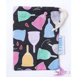 The Menstrual cup bag with dark background