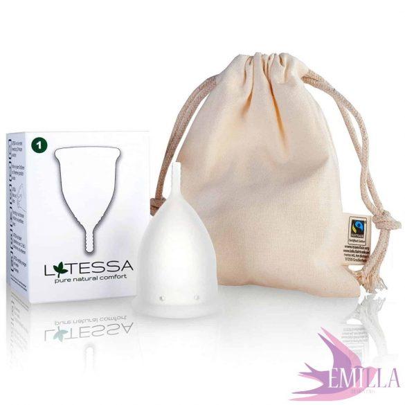 LATESSA Mini, with a free organic cotton pouch
