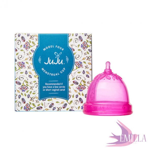 Juju Cup model 4 PINK - shortened size (for low cervix)