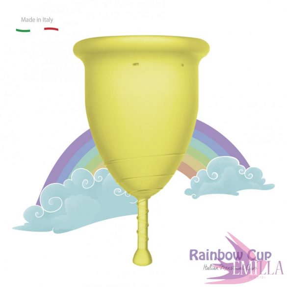 Rainbow Intimkehely nagy méret - Sárga (középkemény)
