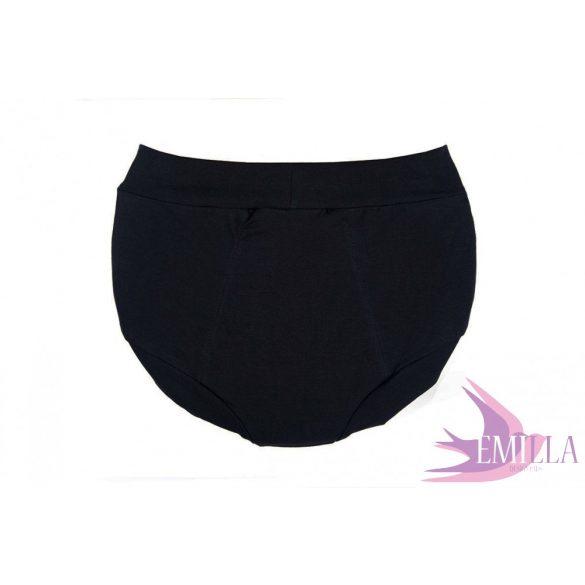 Fekete menstruációs bugyi XL