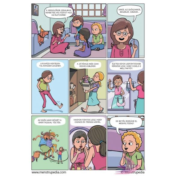 Menstrupédia - a menstruációs képregény, gyermekeknek