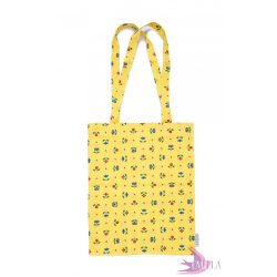Yellow Meadow - Cotton tote bag from rescued fabric