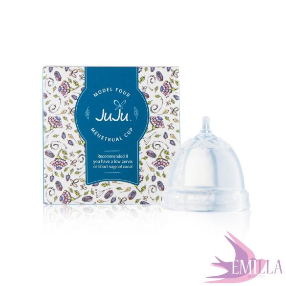 Juju Cup model 4 - shortened size (for low cervix) - Transparent