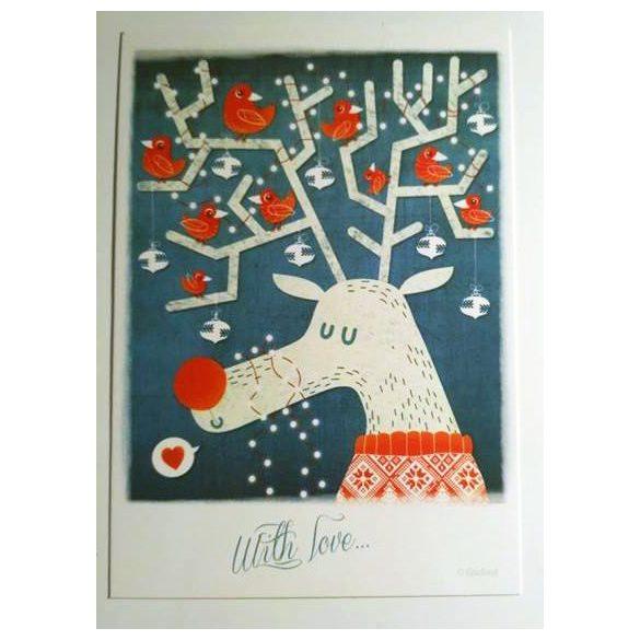 Rudolf the Red Bird Reindeer - Adaland designcard