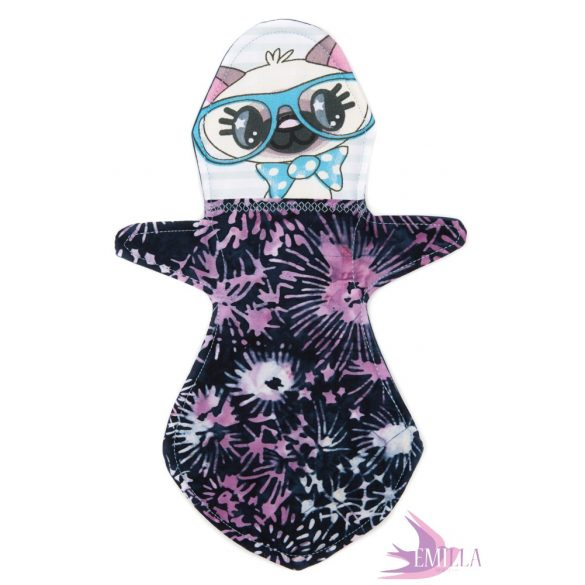 Kitty - Emilla Baba cloth pads for moderate flow