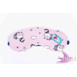 Emilla minky Sleepingmasks - Pink Fluffy Unicorn