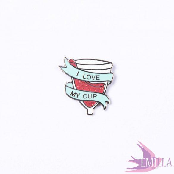 I Love My Menstrual Cup enamel pin