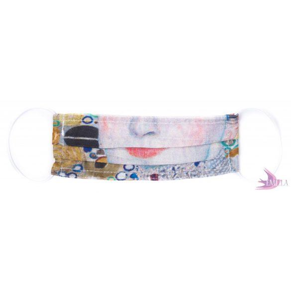 Gyermek méretű gumis mosható, sterilizálható arcmaszk - vegyes minta / pamut
