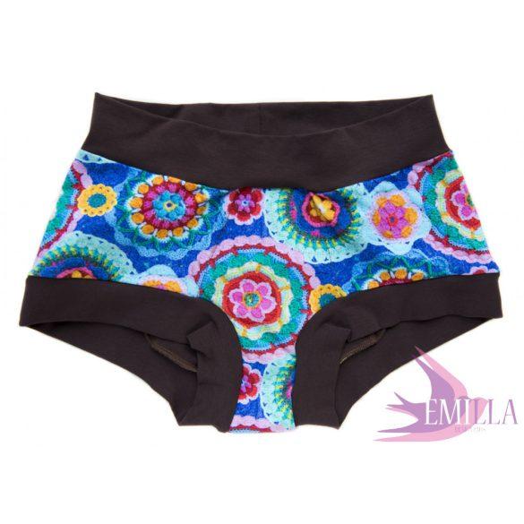 Brown Granny Panties menstruációs bugyi XXL