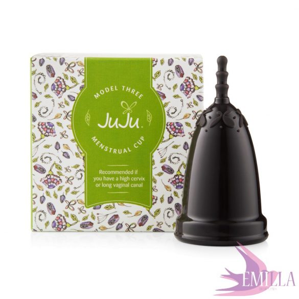 Juju Cup model 3 BLACK - elongated size (for high cervix)