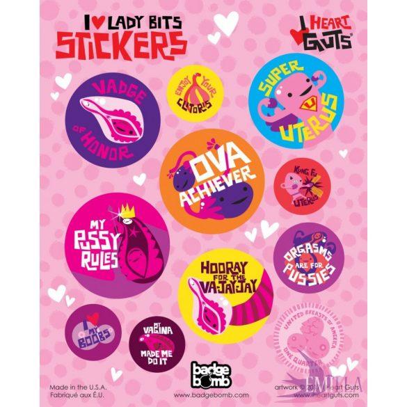 I Love Lady Bits Stickers