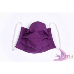 Gumis mosható, sterilizálható arcmaszk - Lila / pamutvászon