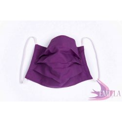Washable, sterilizable face mask - Purple / cotton