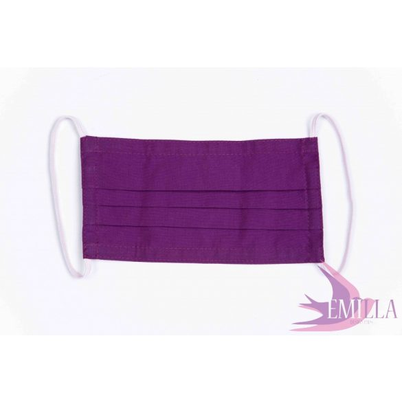 Washable, sterilizable face mask - Purple / cotton