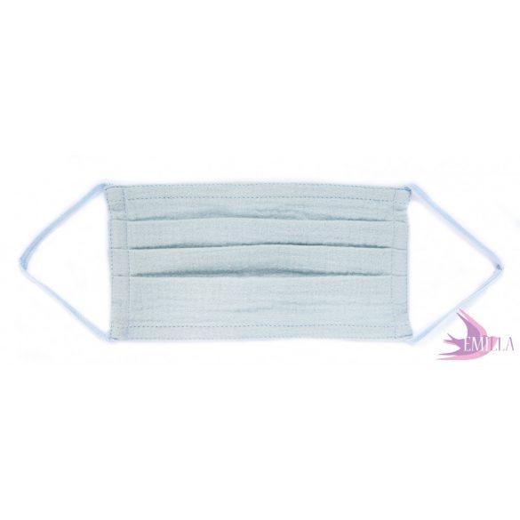 Washable, sterilizable face mask - Baby Blue / cotton guaze