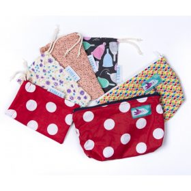 Wet bags for pads and menstrual cups