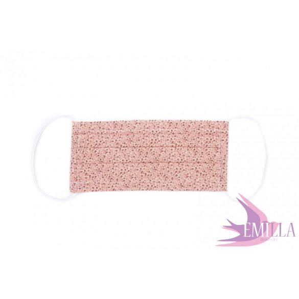 Gumis mosható, sterilizálható arcmaszk - vegyes minta / pamut
